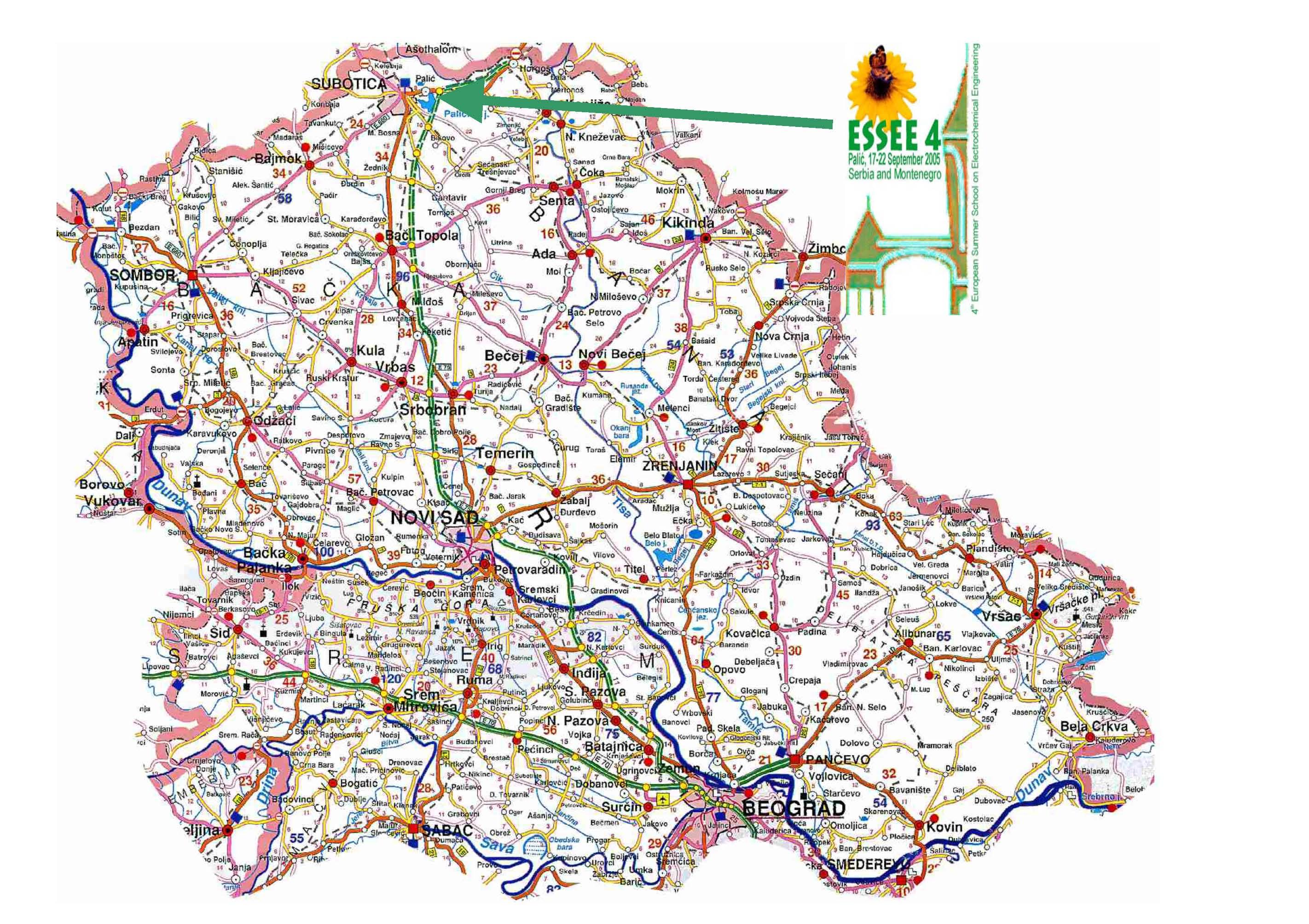 Vojvodina Mapa Superjoden